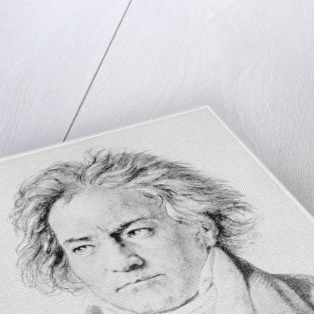 Ludwig von Beethoven, German composer by Anonymous