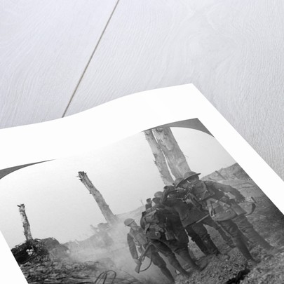 Interrogating a German soldier, Hohenzollern Redoubt, France, World War I by Realistic Travels Publishers