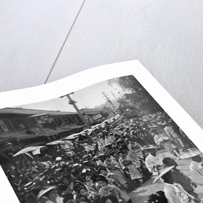 Geisha procession, Yokohama Jubilee, Japan by Anonymous