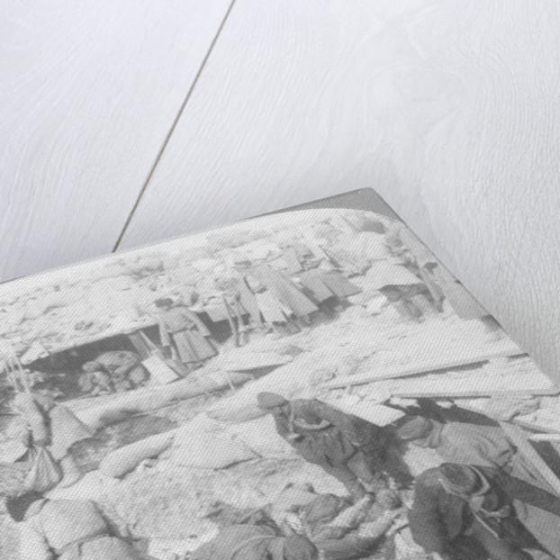 Russians burying Japanese dead inside a fort, Port Arthur, Manchuria, Russo-Japanese War by Underwood & Underwood