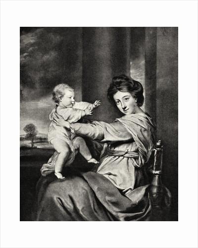 Caroline, Duchess of Marlborough and Daughter by Richard Houston