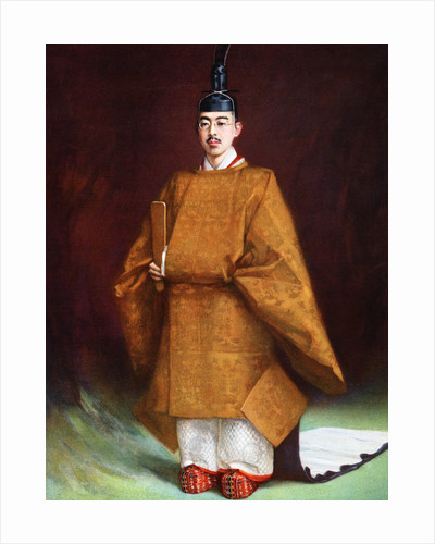 Emperor Hirohito in his coronation garments by Anonymous
