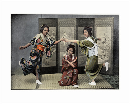 A Family Dance in Japan by Charles Gillot