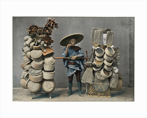A Basket Making Merchant by Anonymous
