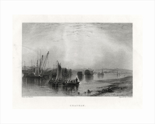 Chatham, Kent by E Finden