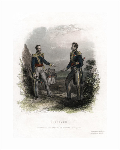 Meeting between Generals San Martin and Bolivar by Levy