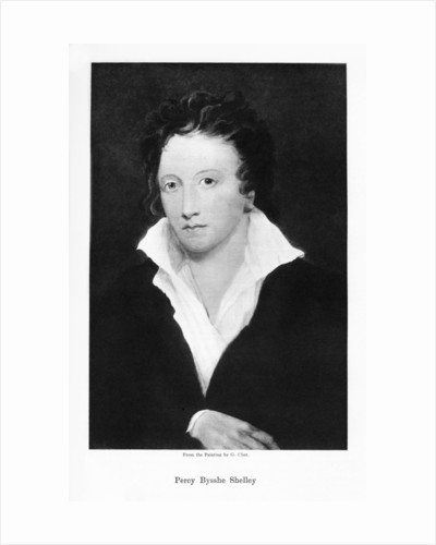 Percy Bysshe Shelley, English romantic poet by Anonymous