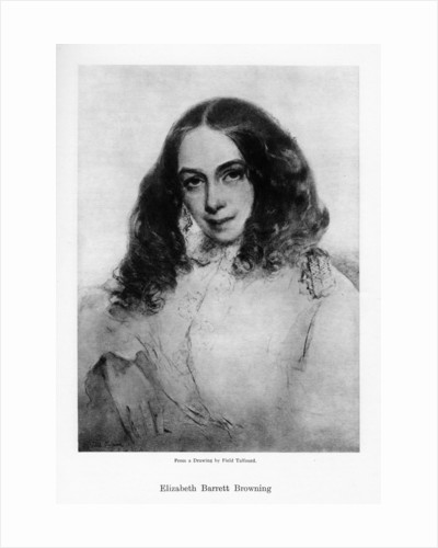 Elizabeth Barrett Browning, English poet of the Victorian era by Field Talfourd