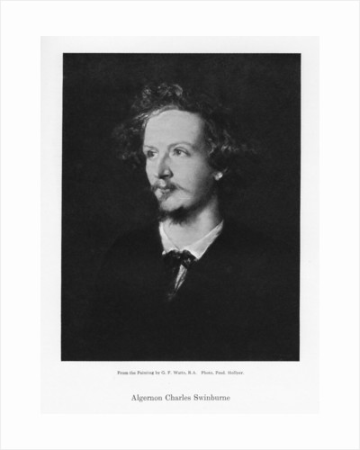 Algernon Charles Swinburne, English poet by Frederick Hollyer