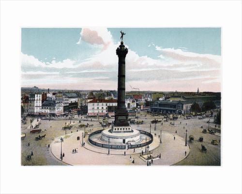 The July Column in the Place de la Bastille, Paris by Anonymous