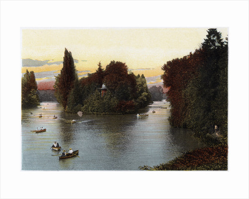 A lake in the Bois de Boulogne, Paris by Anonymous