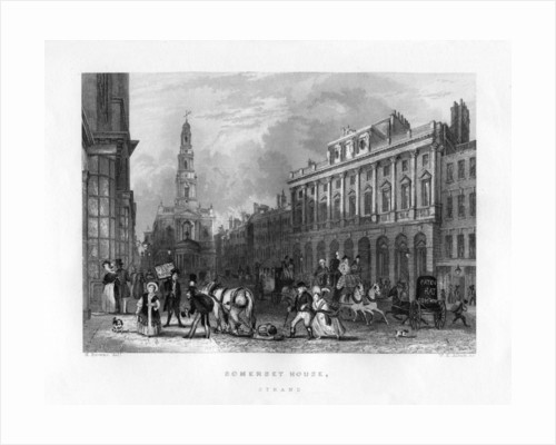 Somerset House, the Strand, London by WE Albutt