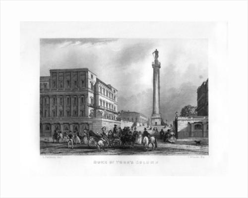 The Duke of York's Column, London by J Woods