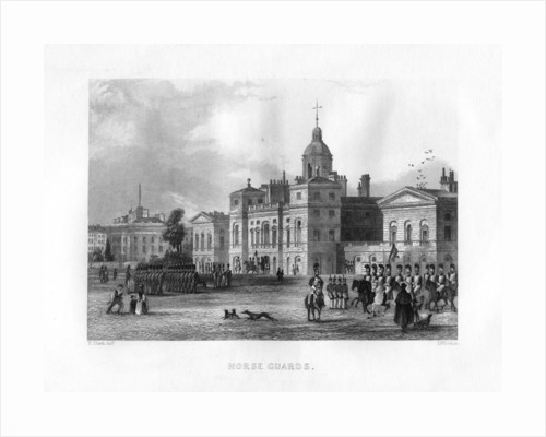 Horse Guards, London by J Woods