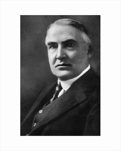 Warren G Harding, 29th President of the United States by Anonymous