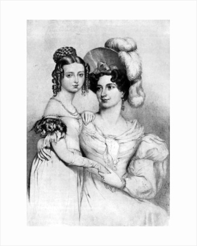 Princess Victoria and her mother in 1834 by George Hayter
