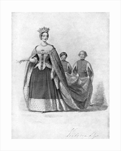 Queen Victoria as Queen Philippa at the Plantagenet Ball, Buckingham Palace by Anonymous