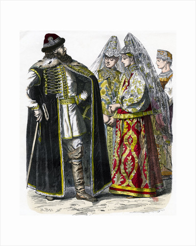 Traditional Russian Costume by Anonymous