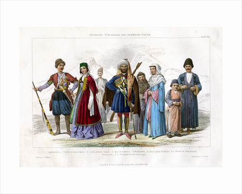 Georgian, Circassian and Armenian Races by J Le Conte