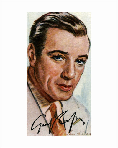 Gary Cooper, (1901-1961), American film actor of British heritage by Anonymous