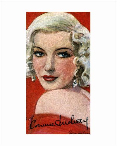 Corinne Luchaire, (1921-1950), French actress by Anonymous