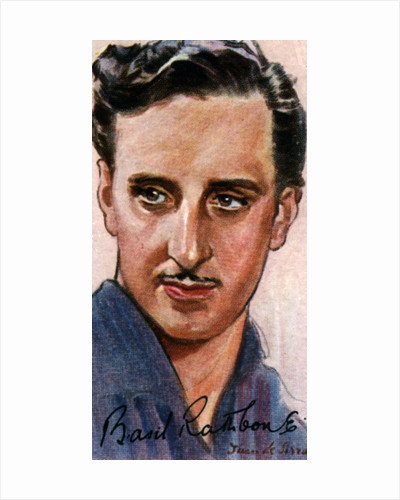 Basil Rathbone, (1892-1967), English actor by Anonymous