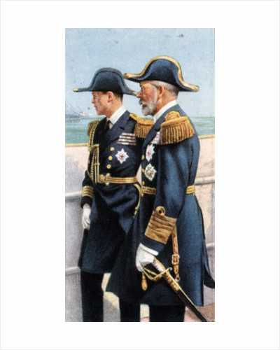 George V and the Prince of Wales reviewing the Fleet, July 26th by Anonymous