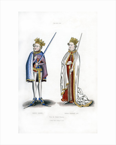 King John and King Henry I by Henry Shaw