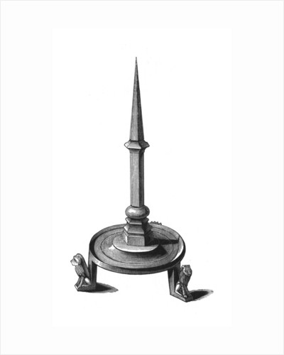 Bronze candlestick by Henry Shaw
