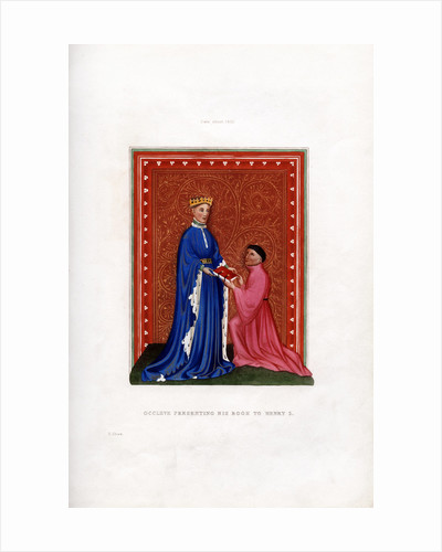 Occleve presenting his book to Henry V by Henry Shaw