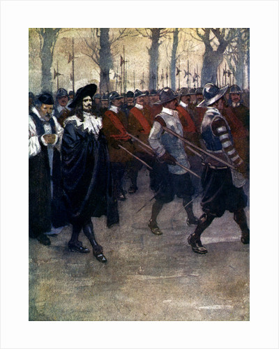 Charles the King walked for the last time through the streets of London by A S Forrest