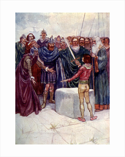He stood there holding the magic sword in his hand by A S Forrest