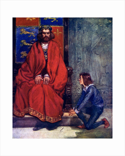 The little boy knelt before the King and stammered out the story by A S Forrest