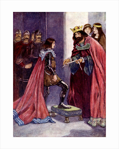 The King made the Black Prince a Knight of the Order of the Garter by A S Forrest