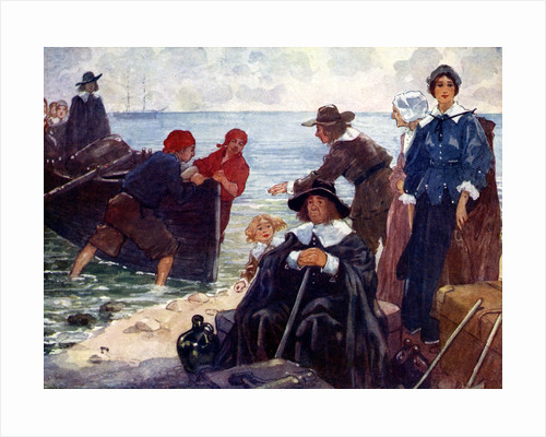 A band of exiles moor'd their bark on the wild New England shore by A S Forrest