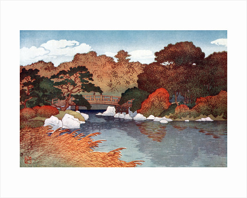 Autumn in Hundred Flower Garden at Muko-Jima by Yoshida Hiroshi