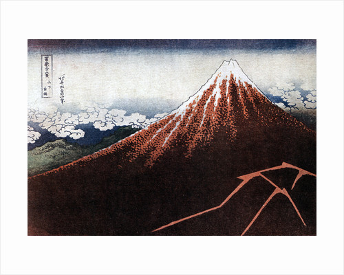 Fuji above the Lightning by HOKUSAI