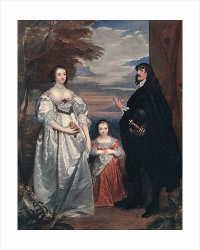 The Earl and Countess of Derby and Child by Anthony van Dyck