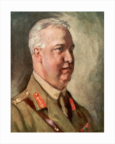 Sir Arthur William Currie, Canadian First World War general by Anonymous