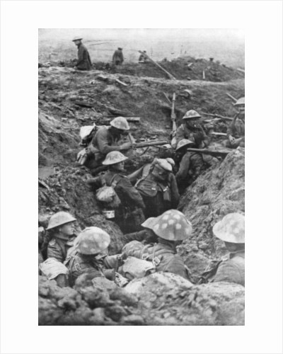 British troops at the Menin Road, near Ypres, Belgium by Anonymous