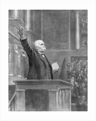 Prime Minister Georges Clemenceau announces the end of the war, 11am by J Simont