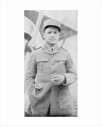 Raoul Lufbery, French-American fighter pilot and flying ace of World War I by Anonymous