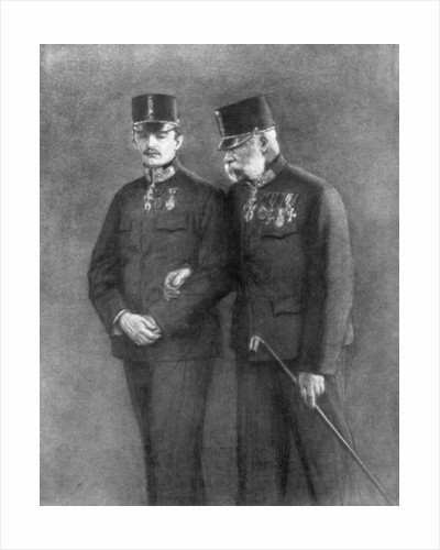 Emperor Franz Josef I of Austria and Archduke Charles Habsburg by Anonymous