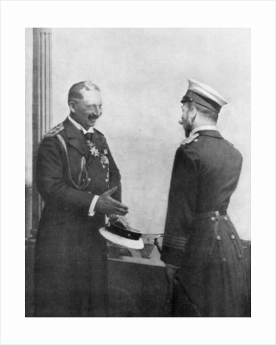 Emperor Welhelm II of Germany greeting Tsar Nicholas II of Russia before the First World War by Anonymous