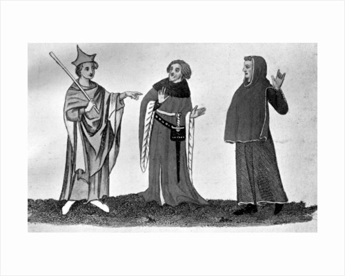 Habits of officers of the law, 14th-15th centuries by Anonymous