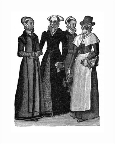 Costumes of town and country women by Anonymous