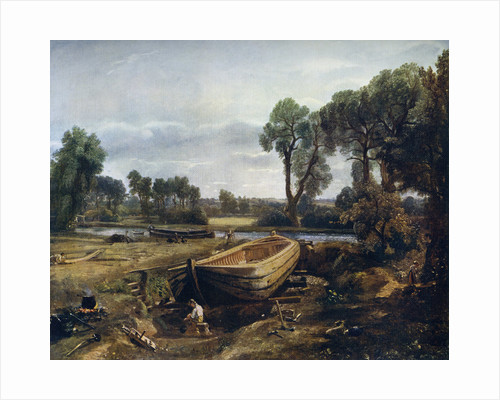 Boat Building Near Flatford Mill by John Constable
