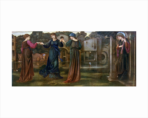 The Mill, Girls Dancing to Music by a River by Sir Edward Coley Burne-Jones