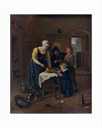 A Peasant Family at Meal-time ('Grace before Meat') by Jan Steen