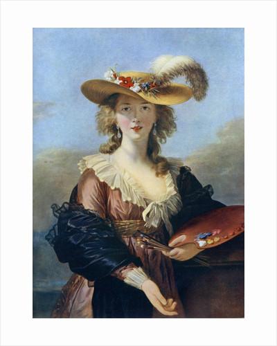 Self Portrait in a Straw Hat by Elisabeth Louise Vigee-LeBrun